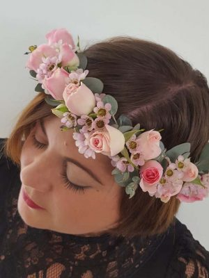Pink Roses Flower Crown