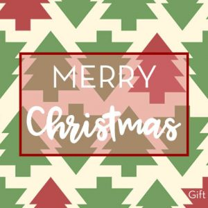Merry Christmas Trees Gift Card