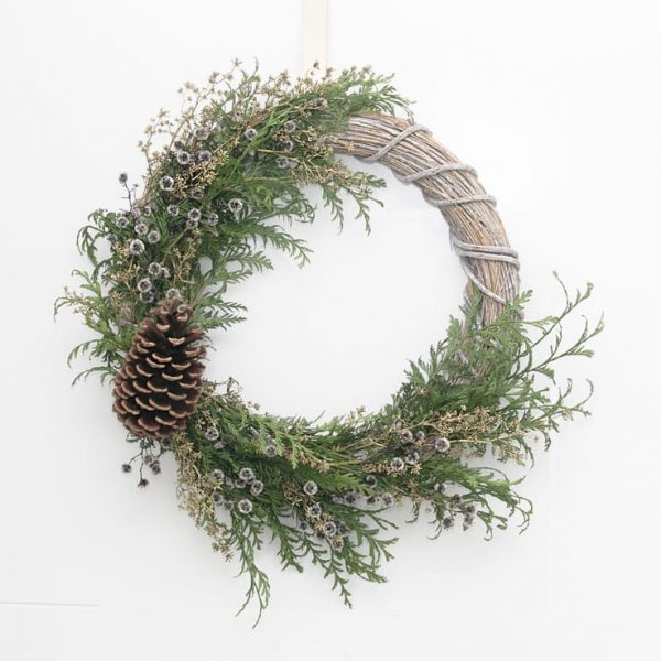 Large Half Christmas Wreath