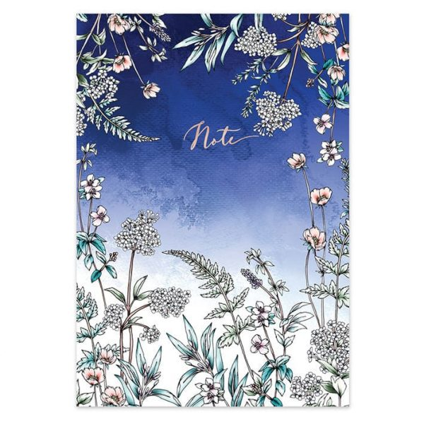 Navy Wildflowers Botanical Notebook