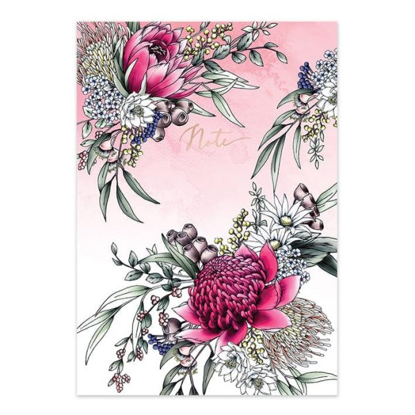 Pink Waratah Botanical Notebook