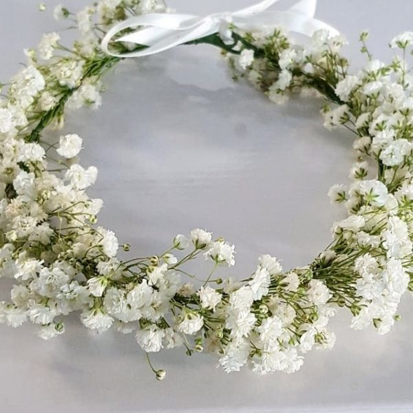 White Baby Flower Crown Full Delicate