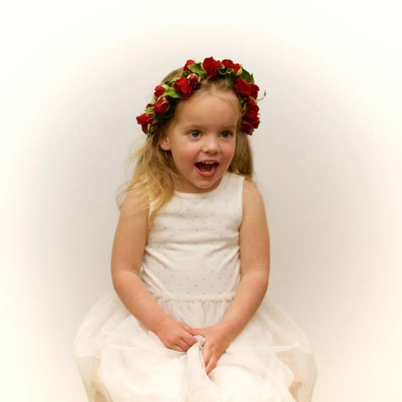 Child's Red Roses Flower Crown