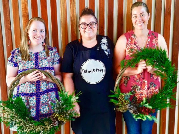 Lisa, Pot and Posy's Florist, and Workshop Participants