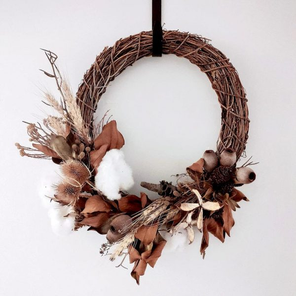 Dried Wreath Christmas Workshop by Pot and Posy