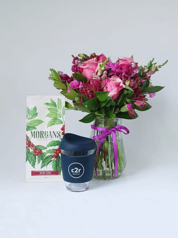 The Good Bean Gift Pack with Navy Glass Cup