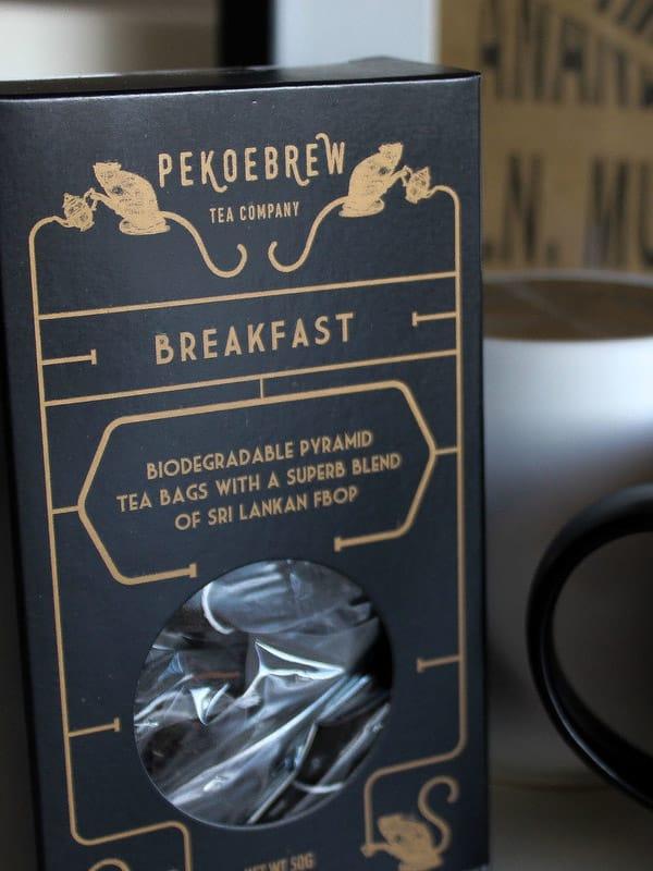 PekoeBrew Breakfast Tea in Biodegradable Pyramid Tea Bags