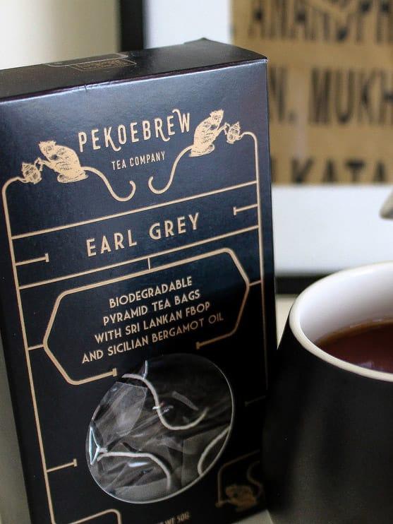 PekoeBrew Earl Grey Tea in Biodegradable Pyramid Tea Bags