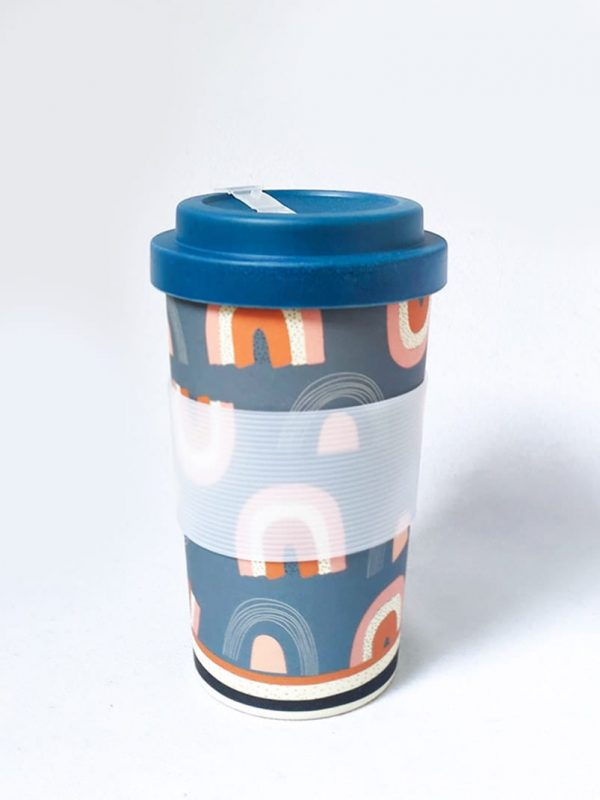 Retro Rainbows Eco Cup